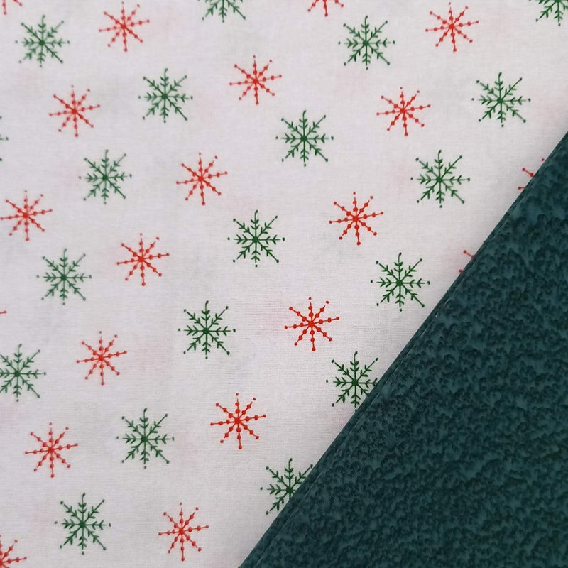 Half Metre Heaven - Blank Quilting 'Christmas Magic Snowflakes' with Spruce Salt Batik