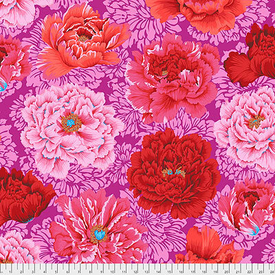Kaffe Fassett Collective 2021: 'Brocade Peony' Hot: Cut to Order by the 1/2m
