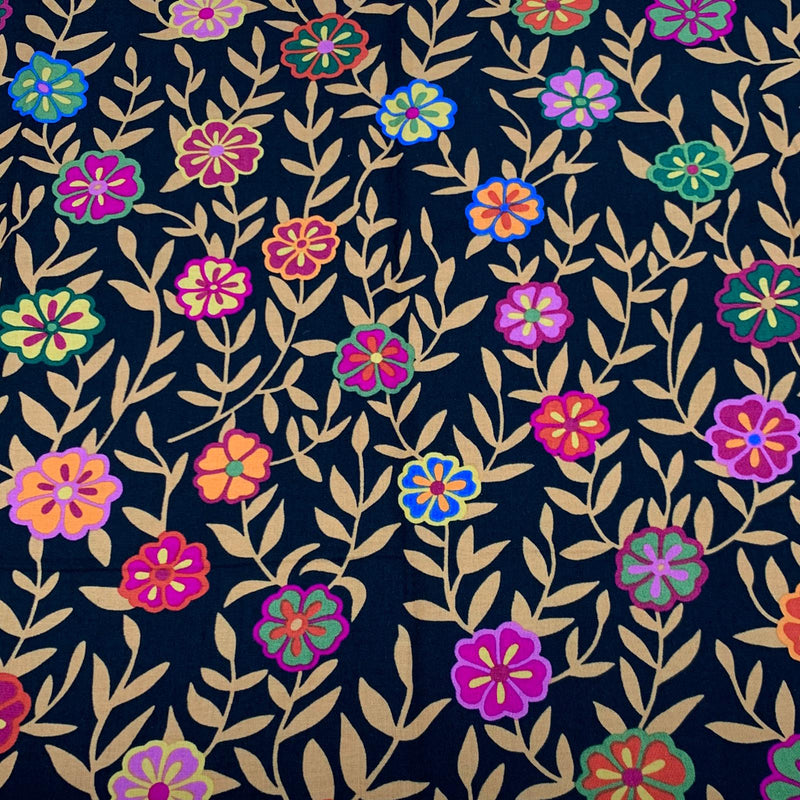 Kaffe Fassett Collective: Busy Lizzy Black 1/2m