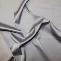 Silk Touch Polyester Satin: Cut to Order by the METRE: Silver