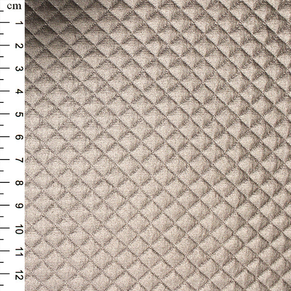 Quilted PU: Champagne: Cut to Order by the 1/2m