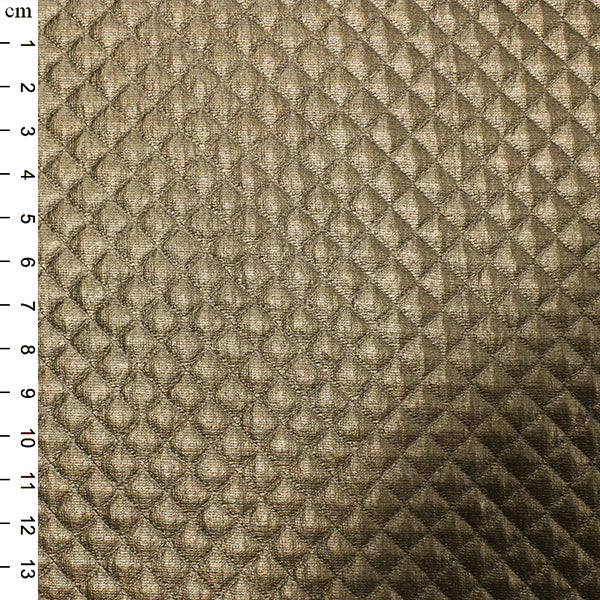 Quilted PU: Gold: Cut to Order by the 1/2m