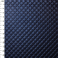 Quilted PU: Navy: Cut to Order by the 1/2m