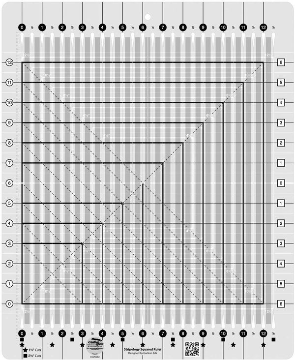 Creative Grids Stripology Squared Quilting Ruler Template CGRGE2 Accessory | Natasha Makes