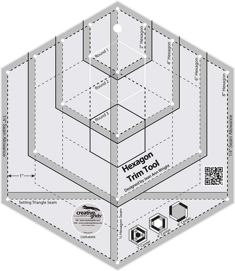 "CGRJAW4 8"" Hexagon Log Cabin (cut 2"" to 8"") Accessory 