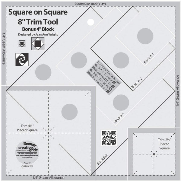 "CGRJAW8 Square on Square 4"" or 8"" Accessory 