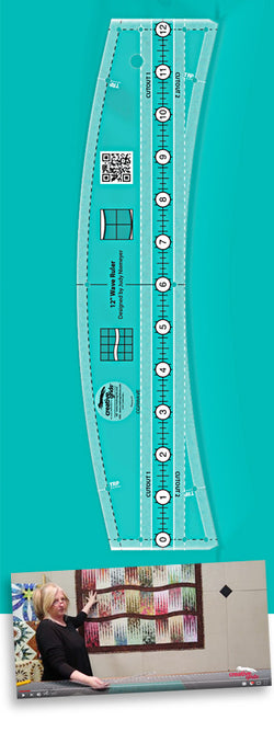 Creative Grids Non-Slip Wave Quilt Ruler 12in - CGRWAVE