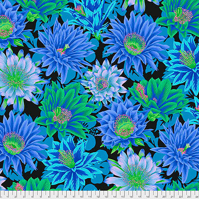 Kaffe Fassett Collective 2021: 'Cactus Flower' Cool: Cut to Order by the 1/2m