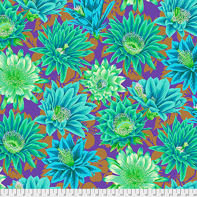 Kaffe Fassett Collective 2021: 'Cactus Flower' Emerald: Cut to Order by the 1/2m