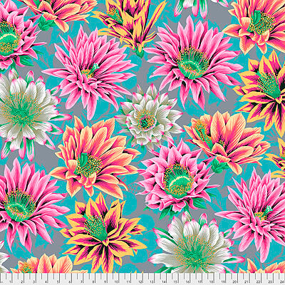 Kaffe Fassett Collective 2021: 'Cactus Flower' Tawny: Cut to Order by the 1/2m