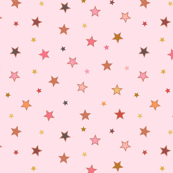 Lewis & Irene 'Calming Stars with Rose Gold Metallic' 1/2m