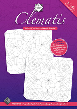 Clematis Illustrated Quilting Instructions by Angie Attwood Instructions | Natasha Makes