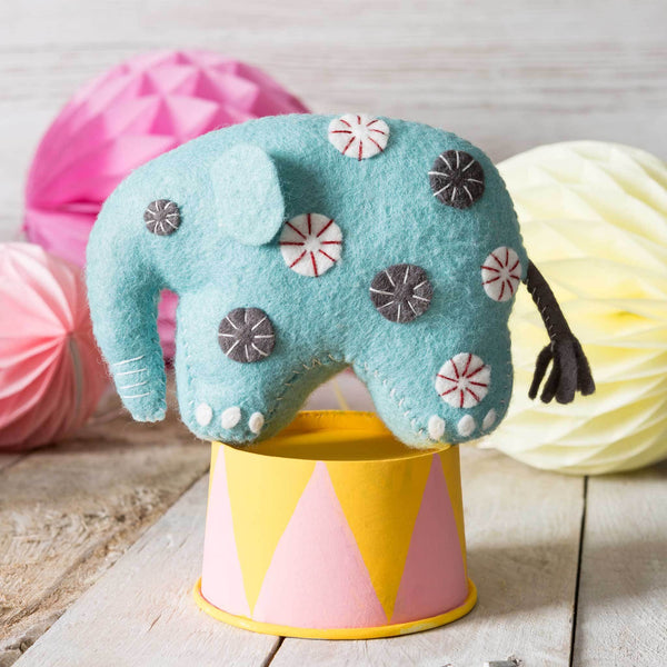 Corinne Lapierre Elephant Felt Craft Kit Kit | Natasha Makes