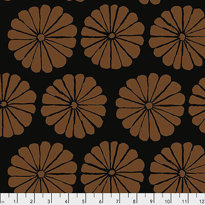 Kaffe Fassett Collective 2021: 'Damask Flower' Brown: Cut to Order by the 1/2m