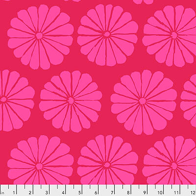 Kaffe Fassett Collective 2021: 'Damask Flower' Magenta: Cut to Order by the 1/2m