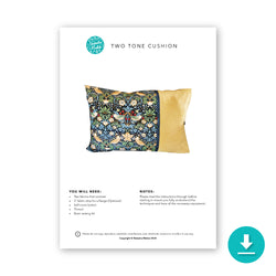 Any Size Two Tone Cushion Burrito Style: Digital Instructions