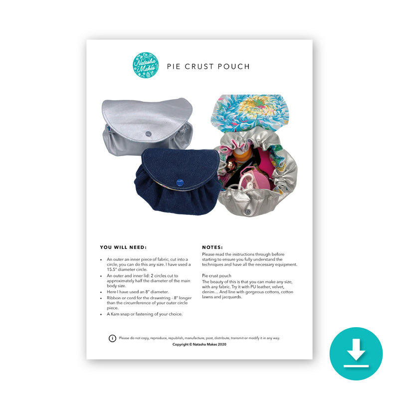 Pie Crust Pouch Digital Instructions