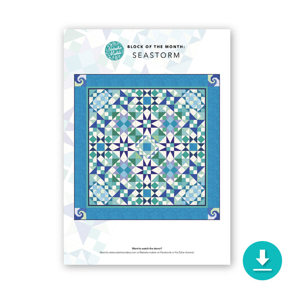 Block of the Month: Seastorm Quilt Full Compendium: Digital Download