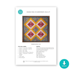 Dancing Diamonds Quilt: Digital Instructions