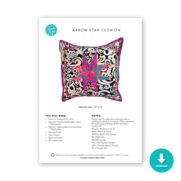 Arrow Star Cushion Digital Instructions