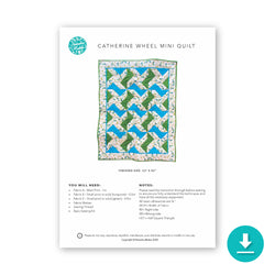 Catherine Wheel Mini Quilt DIGITAL Instructions