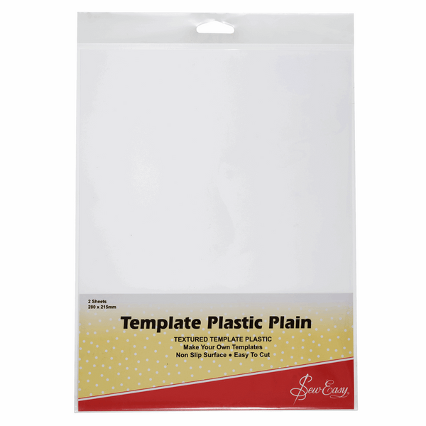 Sew Easy Template Plastic: Plain 2 x A4 sheets