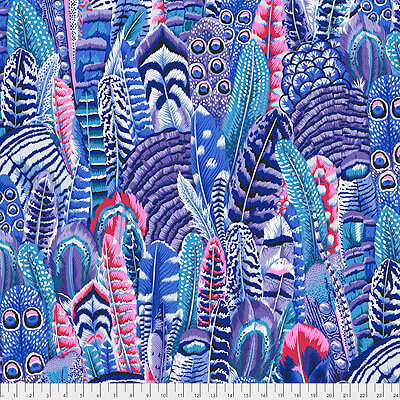 Kaffe Fassett Collective 2021: 'Feathers' Cool: Cut to Order by the 1/2m