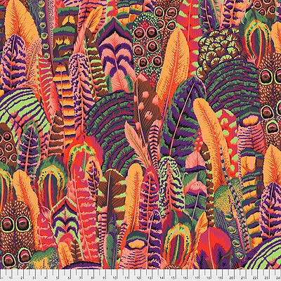 Kaffe Fassett Collective 2021: 'Feathers' Summer: Cut to Order by the 1/2m