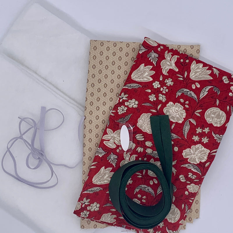 Quilted Tablet Pouch Kit - French General Kit | Natasha Makes
