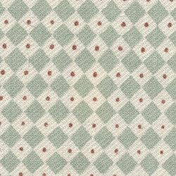 GREEN /CREAM SMALL RED DOT Upholstery Fabric | Natasha Makes