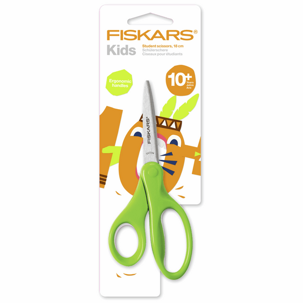 Fiskars Kids' Ergonomic Scissors: 18cm: Green