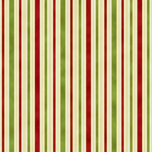 Leesa Chandler: 'Hampton Stripe' in Red Green Ivory 0011 1: Cut to Order by the 1/2m