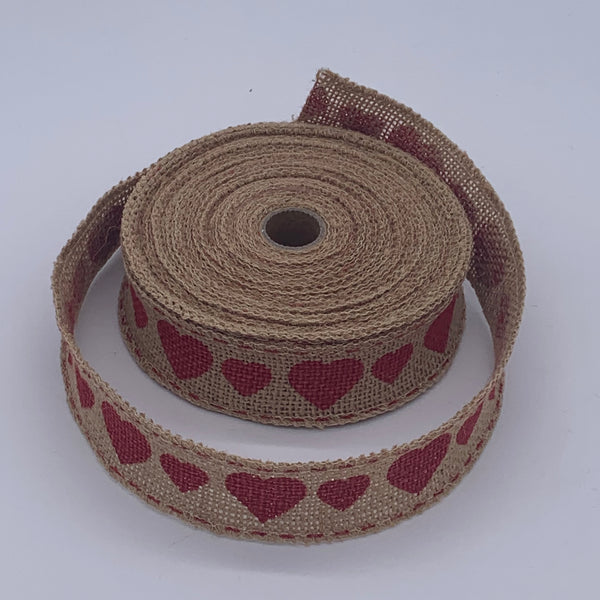 HESSIAN FULL ROLL 10M - HEART Accessory | Natasha Makes