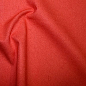100% Cotton Plain: #19 Hot Tomato: Cut to Order by the 1/2m