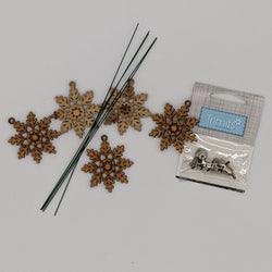 Exclusive Wooden Snowflakes & Bells Bundle - Silver