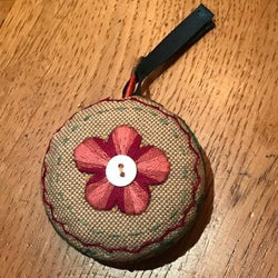 'Pinktacular' Embroidered Tape Measure Cosy Kit
