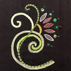 Scrolling Deco Introduction to Embroidery Kit
