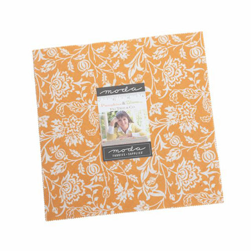 "Moda: 'Pumpkins and Blossoms' by Fig Tree & Co: Layer Cake: Precut 10"" Squares"