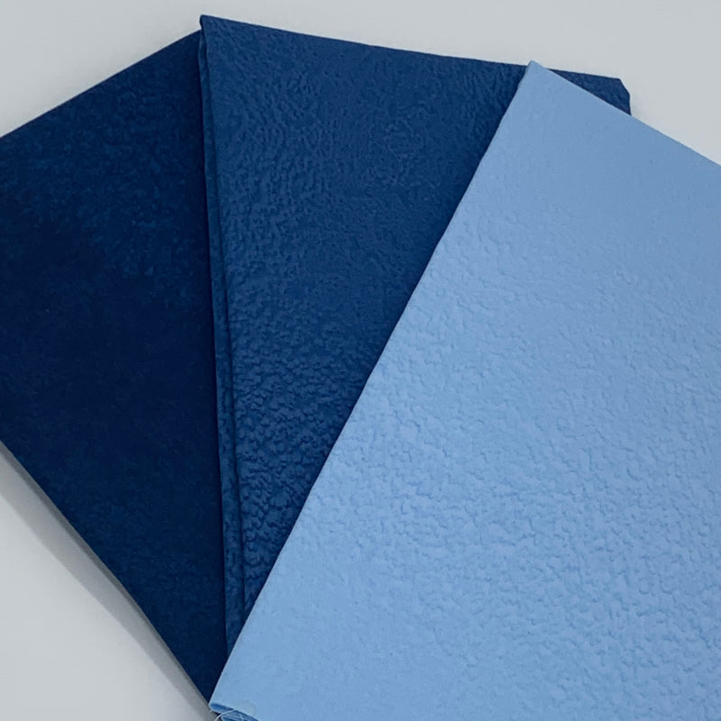 Complimentary Bundle for the Lewis and Irene 'Tomten' Collection - 3 x 1/2 metre in Winter Blues