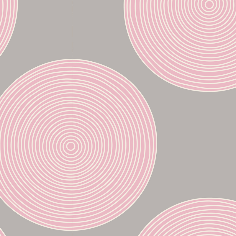 Tilda - LazyDays Luna Backing Fabric Pink/Grey Fabric | Natasha Makes