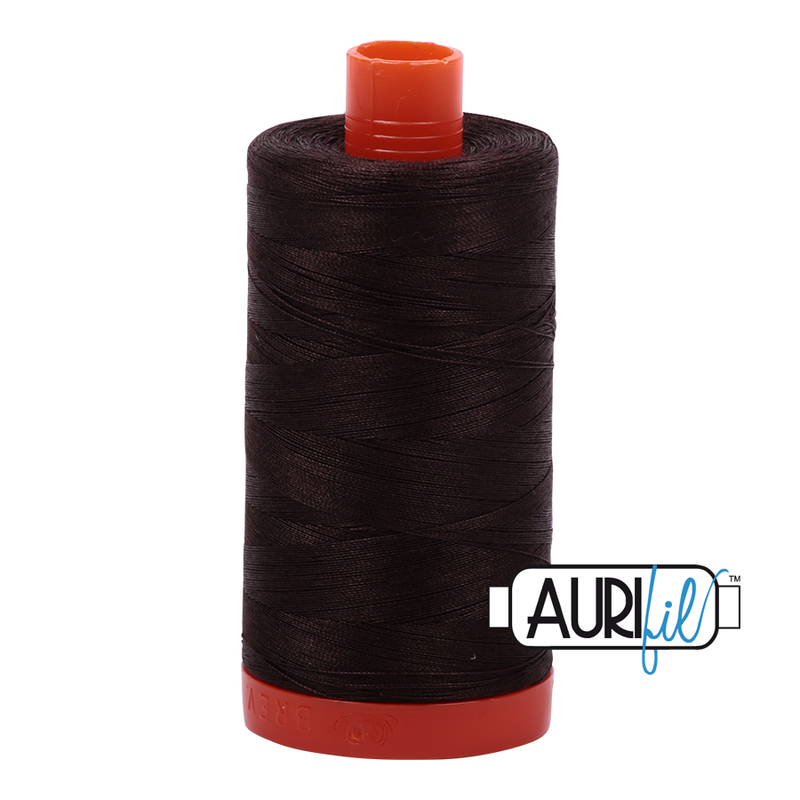 Aurifil 50 - 1130 V Dk Bark Thread | Natasha Makes