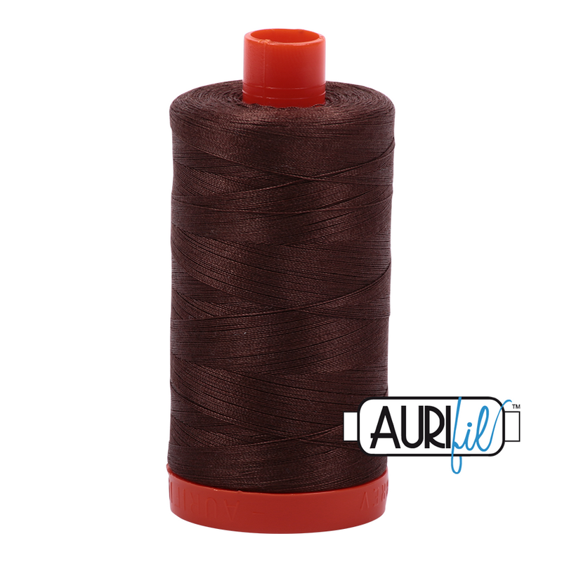 Aurifil 50 - 1285 Med Bark Thread | Natasha Makes