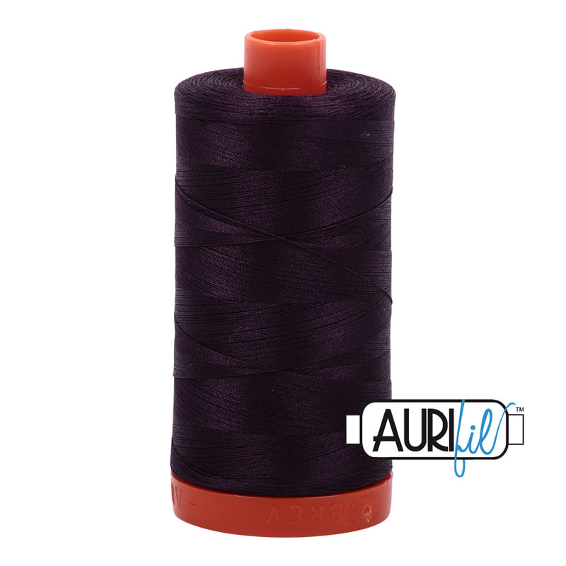 Aurifil 50 - 2570 Aubergine Thread | Natasha Makes