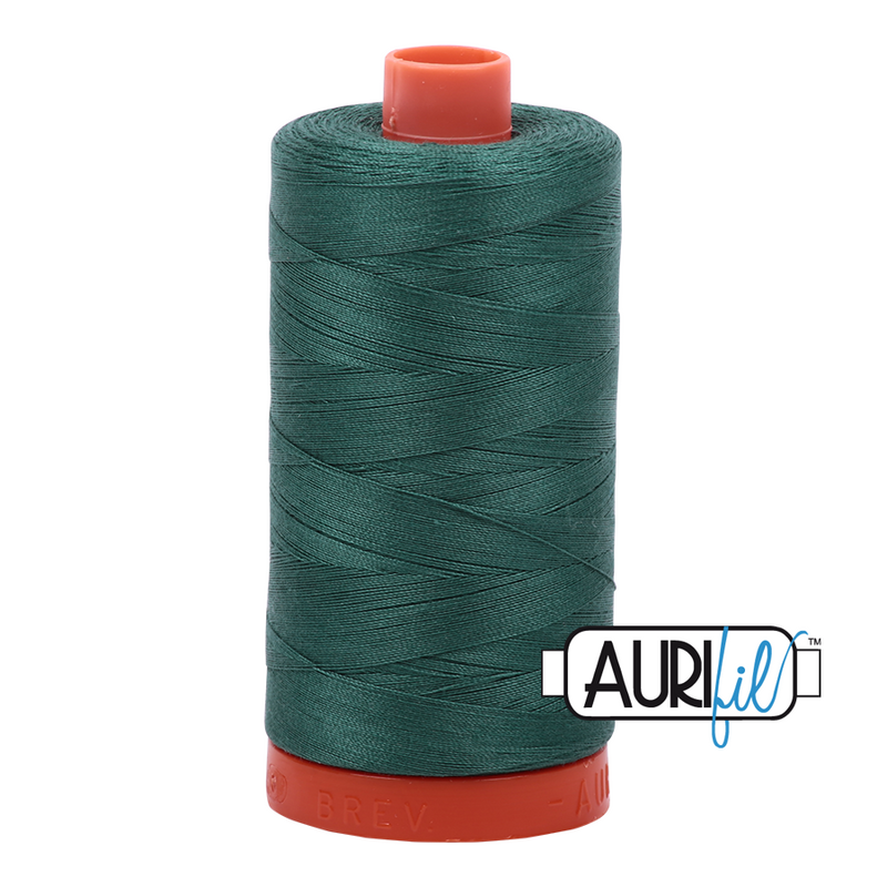 Aurifil 50 - 4129 Turf Green Thread | Natasha Makes