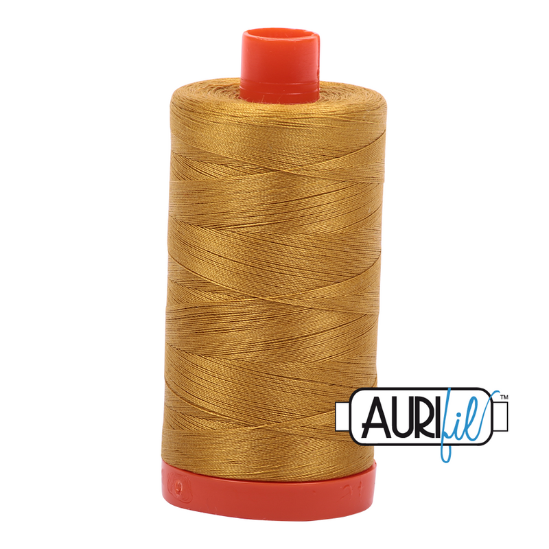 Aurifil 50 - 5022 Mustard Thread | Natasha Makes