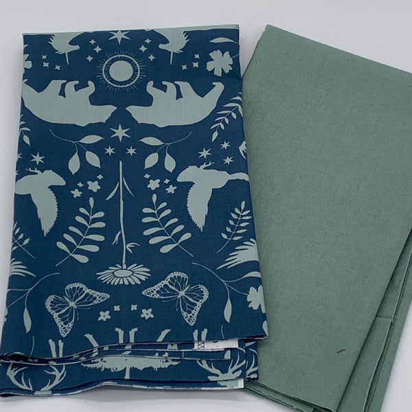 Half Metre Heaven -  Maureen Cracknell Animals on Blue with Misty Blue