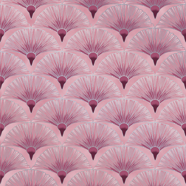 Leesa Chandler: Melba 'Fan' Pink Silver 0005 6: Cut to Order by the 1/2m