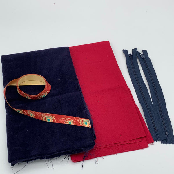 Velvet Ribbon Pouch Kit: Midnight Velvet