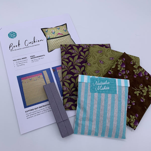 Moda - Sweet Violet Book Cushion Kit with Lavender Ravioli: Option 1 Kit | Natasha Makes