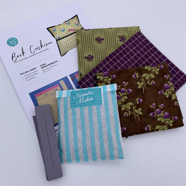 Moda - Sweet Violet Book Cushion Kit with Lavender Ravioli: Option 5 Kit | Natasha Makes